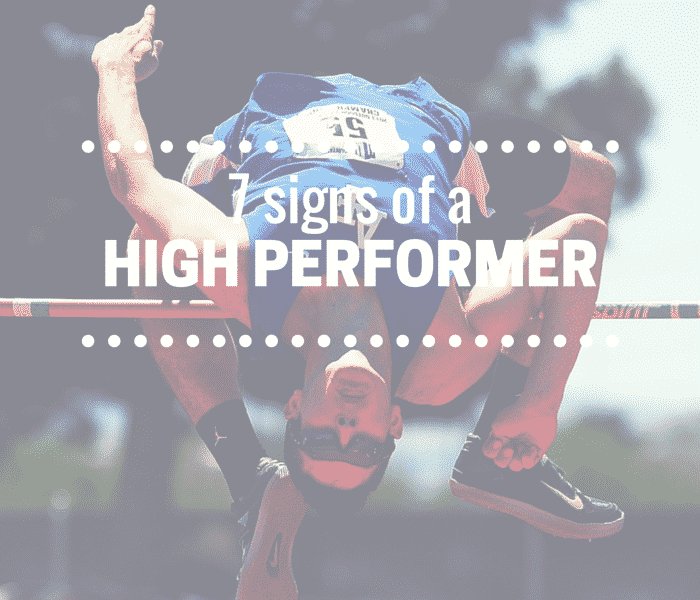 signs of a high performer